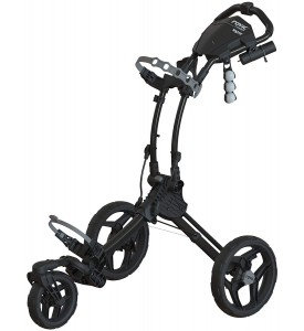Clicgear Rovic RV1S  3 Wheel Golf Push Cart Swivel  Charcoal / Black