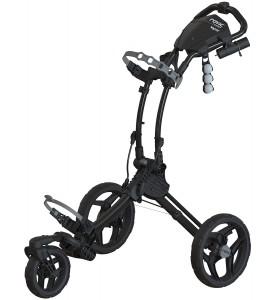 Clicgear Rovic RV1S  3 Wheel Golf Push Cart Swivel  Charcoal / Black