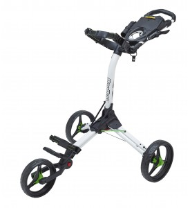 BagBoy Compact 3 Push Cart White / Lime Color