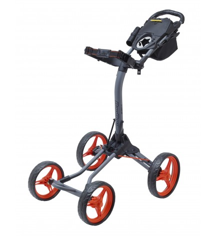 BagBoy QUAD XL  Push Cart Gray / Orange Color