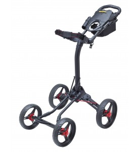 BagBoy QUAD XL  Push Cart Black / RedColor