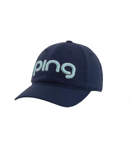 PING Ladies Aero Adjustable Golf Cap Navy / Teal