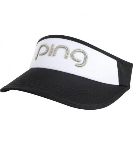 PING Ladies Visor Black / White / Silver