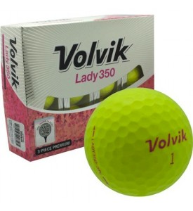 Volvik Lady350 Golf Ball ( Yellow )