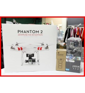DJI Phantom 2+ H4-3D Gimbal with Gopro Hero4 Black Camera with Extra Battery