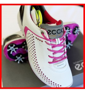 2015 New Ecco Womens Spike Golf Shoes Biom G2 - White / Candy EU 36 37 38 39