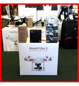 DJI Phantom 2+ H4-3D Gimbal + Gopro Hero4 Black + Remote Strap + Extra Battery