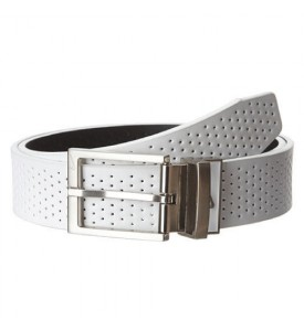 New NIKE GOLF BELT PERFORATED REVERSIBLE - WHITE / BLACK